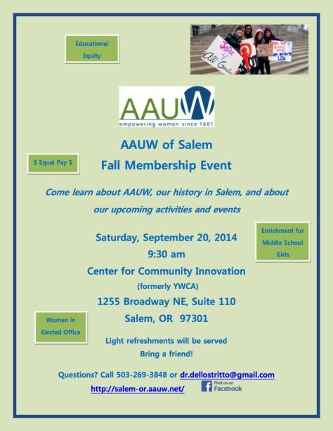 Fall Membership Invitation