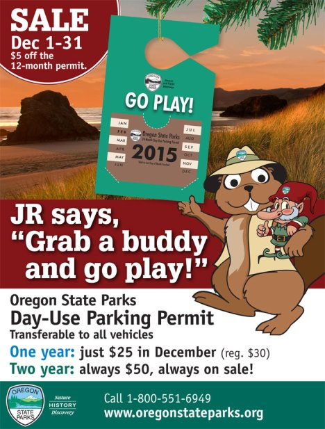 2015 day-use pass parking sale