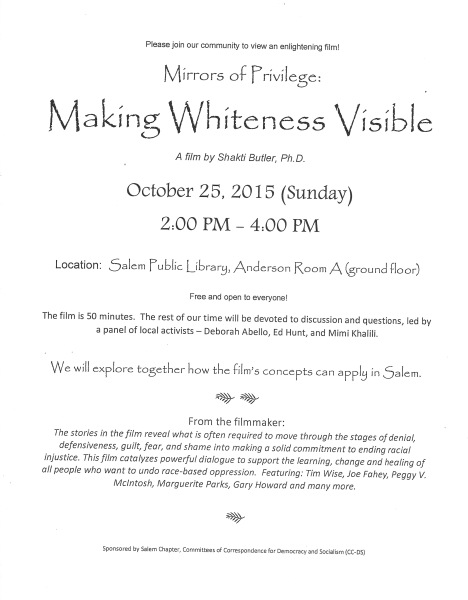Making Whiteness Visible